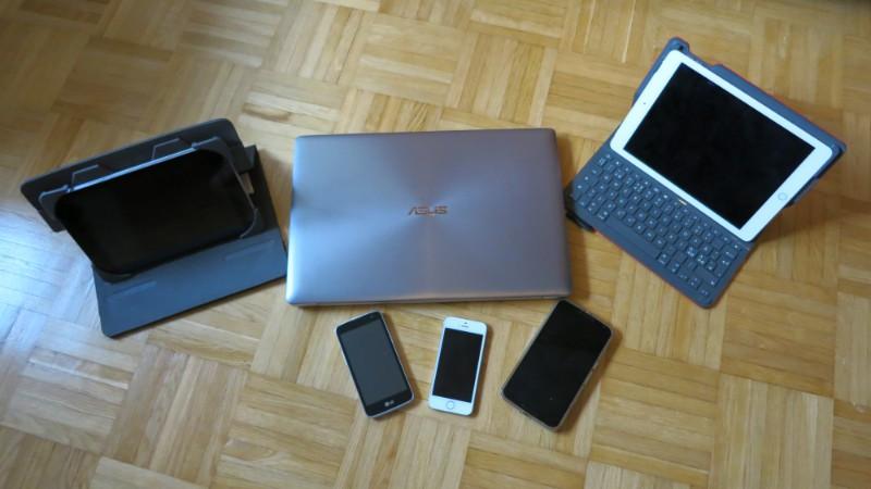 Tietokone, tabletti, älypuhelin