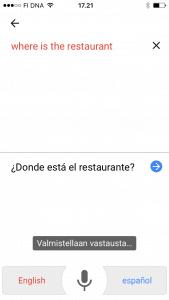 Google kääntäjä - puhu