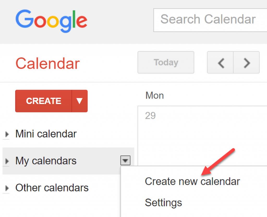 Luo uusi kalenteri