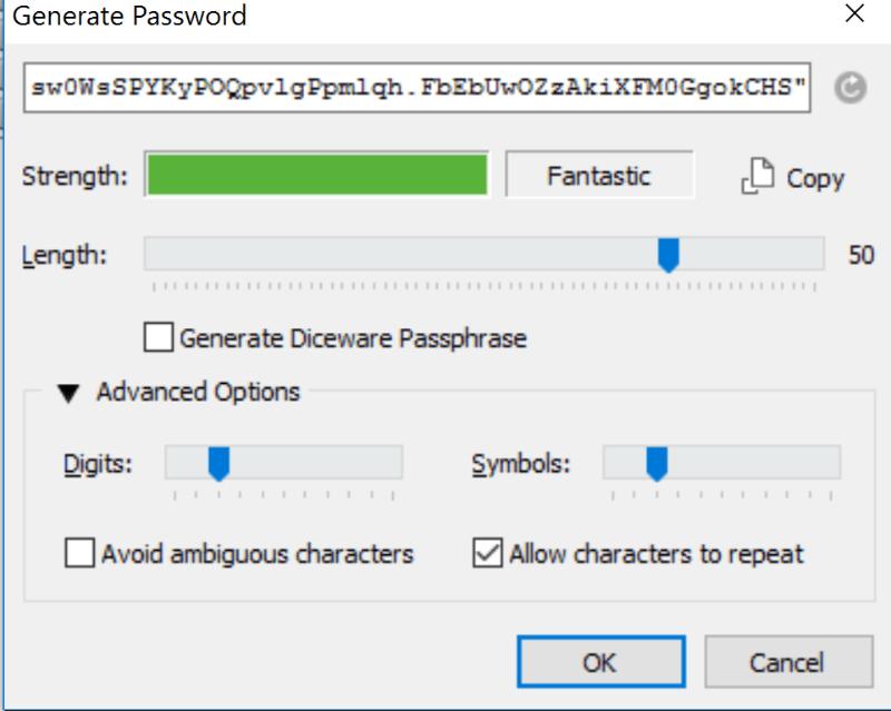 Salasanageneraattorilla vahvat salasanat