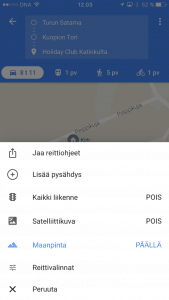 GoogleMaps-lisaa-pysahdys