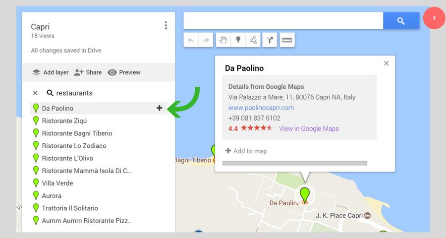 Google My Maps - etsi yleisillä hakusanoilla