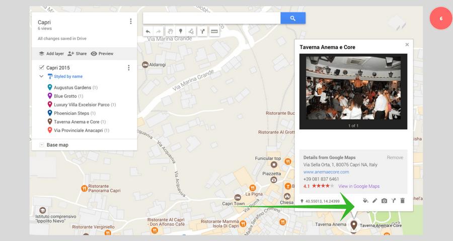 Google My Maps - tallenna kohteita