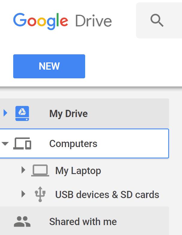 Google Drive computers