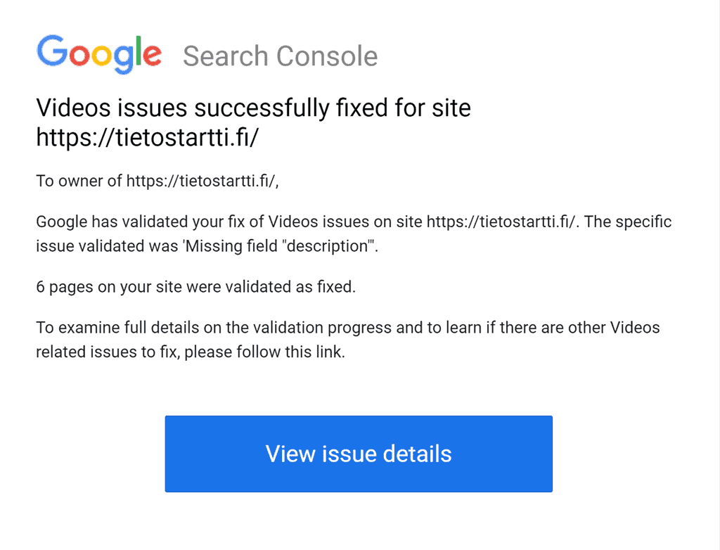 Google Video Search Team - Videot hyväksytty