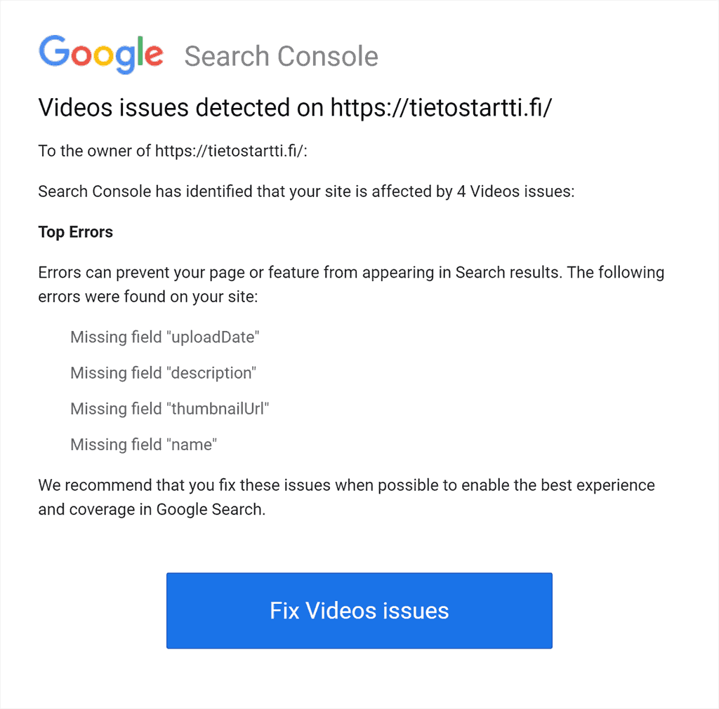 Google Search Team - Videoissa ongelmia